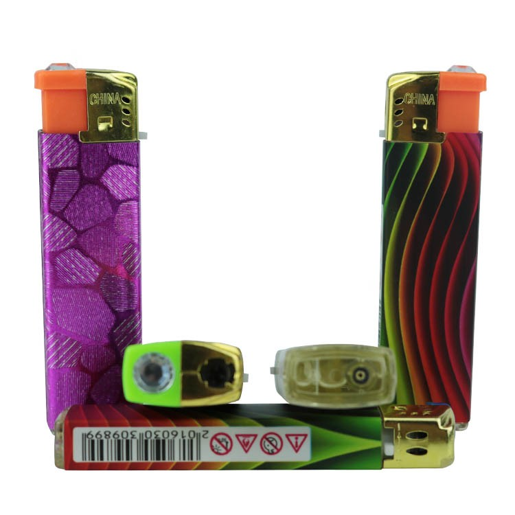 China OEM lighter factories cheap bulk wholesale sexy picture wrap electronic windproof lighter