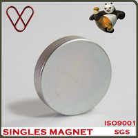 Powerful magnetic china 70mm 10mm large disc neodymium magnet for Electromagnetic door stopper
