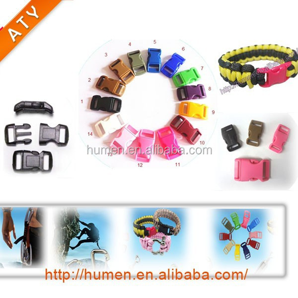 Hot sell colorful plastic side quick release buckle
