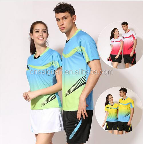 Custom Table Tennis sports shirt cotton volleyball uniform High Quality wholesale tennis shirt