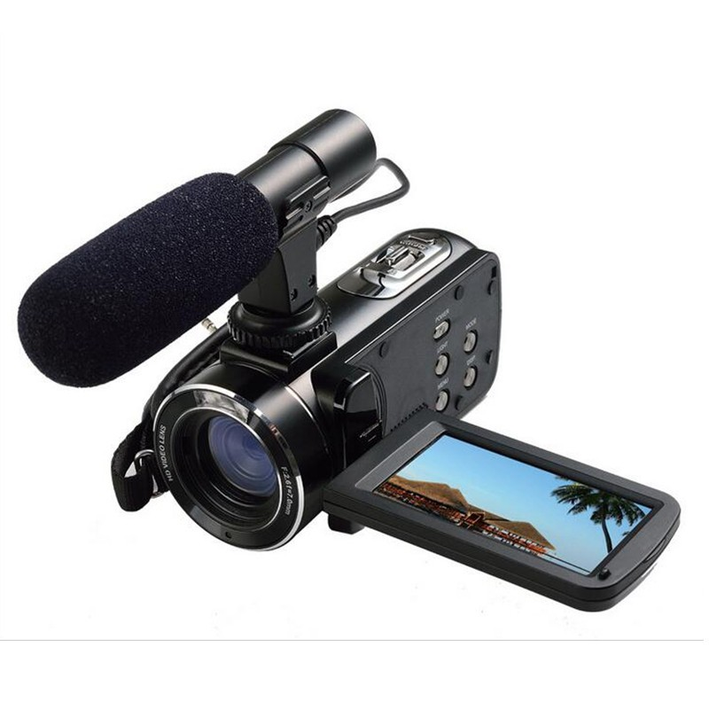 "2017 1080P wide-angle professional Camcorder Video Camera WiFi 24MP digital video camera With 3.0"" Touch Screen 16x digital zoom"