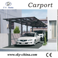 Polycarbonate and aluminum carport 150cc passenger tricycle