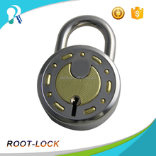 Made In India 65mm Round Brass 7levers combinaction Padlock With Key
