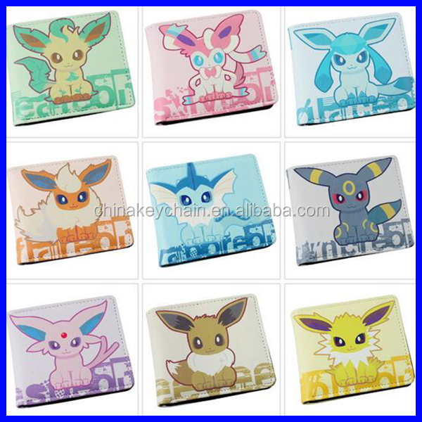 Hot Anime Pokemon Anime Purse PU Wallets