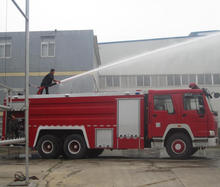 Howo 12ton Water Tank Fire Fighter Truck
