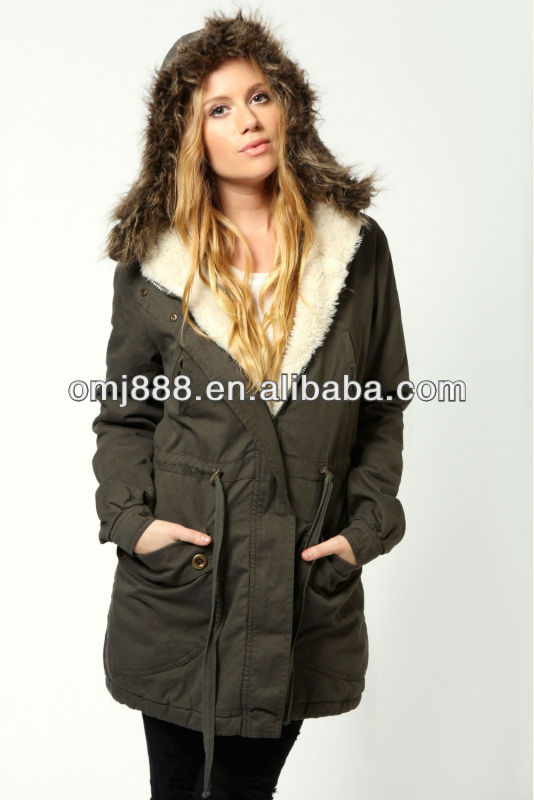 2013 winter ladies emily parka with fur Hood