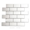 century subway metal tile glossy stainless steel wall tile