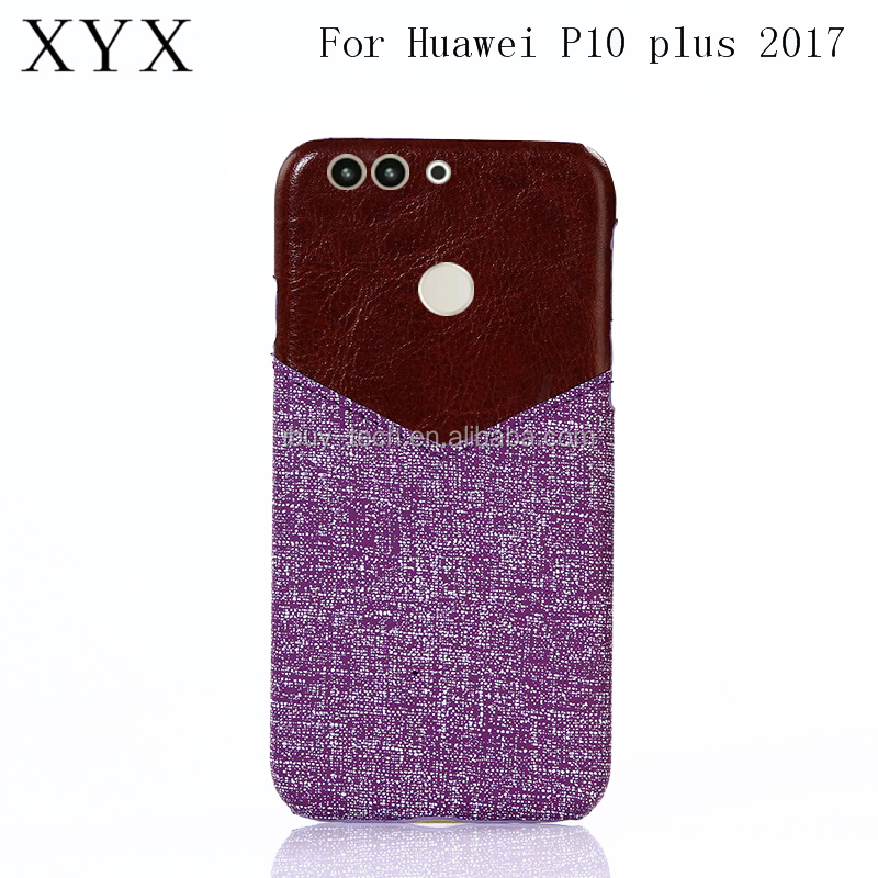Fashionable style jeans canvas PC Leather Back Cover Mobile Phone Case Cover for huawei p10 plus 2017