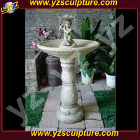 Beautiful outdoor White marble woman statue water fountain for sale