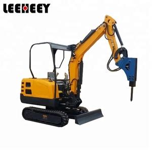 1.8 ton Excavator Maximum Radius 3720mm Hydraulic Breaker Excavator for Sale