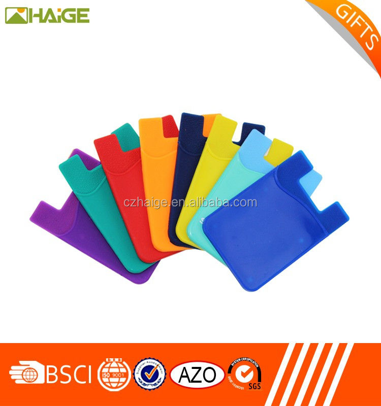 Hot sale Adhesive silicone card holder for mobile phone
