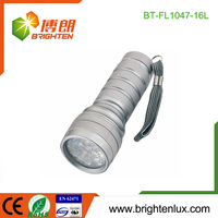 Factory Logo Printed EDC 3*AAA cell Powered Portable Handheld Outdoor Aluminum 16 led manufacturer led flashlight
