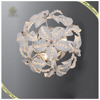 Indoor Decorate Fancy Chrome Flower Wall lamp, Arcylic wall lamp for bedroom