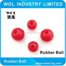 Hot Cheap Black Colored Solid Silicone Red Rubber Ball