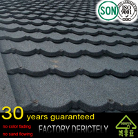 sand coated metal 100% natural color clay roof tiles