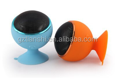 Real fatory 2014 new fashion mini Bluetooth Speaker suction cup model in good price