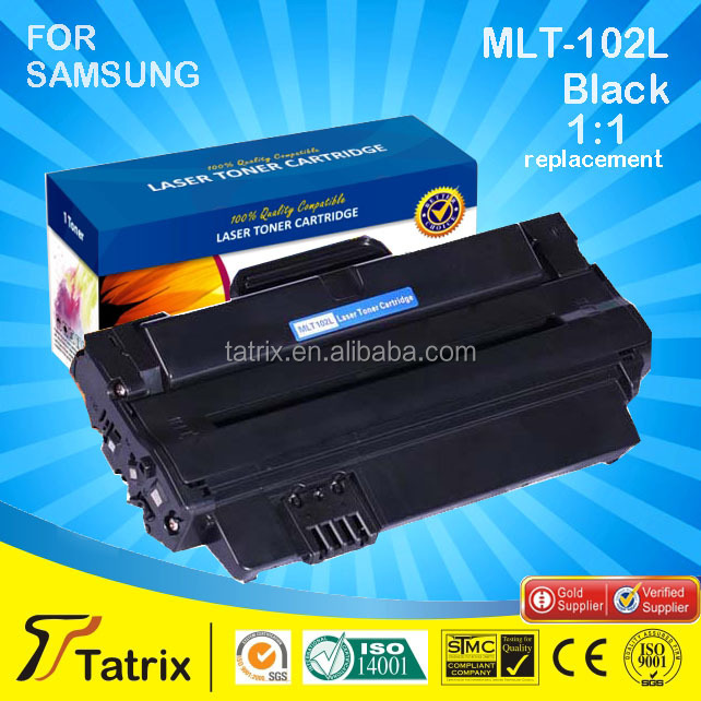 Compatible laser Toner Cartridge MLT 102 for Samsung With 100% Defective Replacement in Zhuhai China