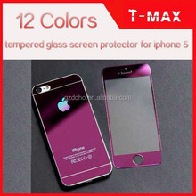 T-max 12colors tempered glass screen protector for iphone 4 5 with factory price