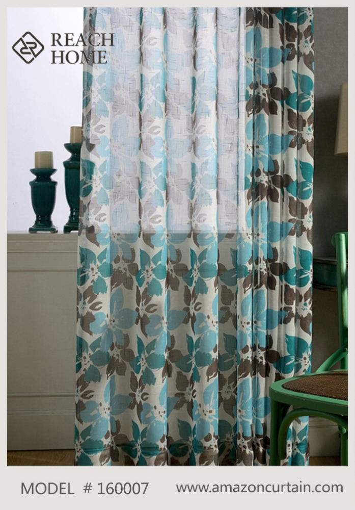 Printed roman fashion luxury home textile finished product bedroom curtains