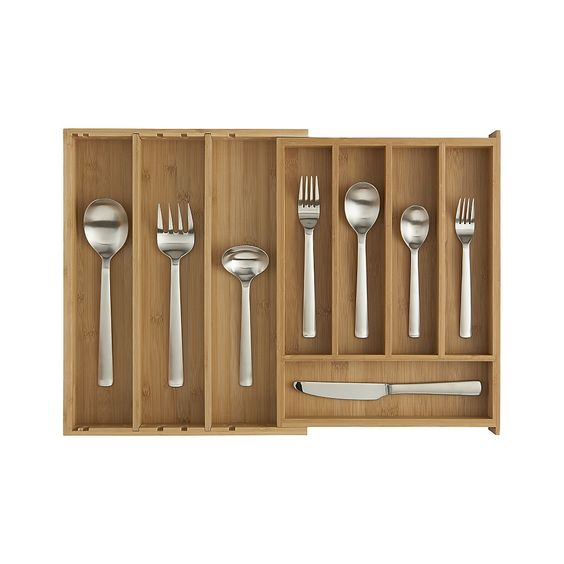 2016 bamboo flatware tray cutlery tray