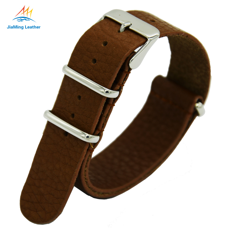 Wholesale Cheap Nylon Zulu Watch Strap Genuiner Leather Strap