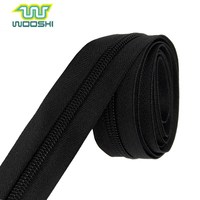 Cheap price with high quality roll zipper #5 long chain nylon zipper for woven bag and fabric bag