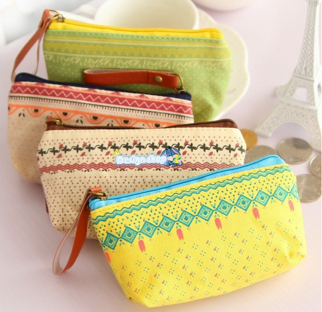 10pcs/Korean stationery kawaii Lovely candy color change purse new cartoon zero wallet Canvas bag fashion coin bag