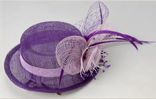 Hot-Selling Sinamay Church Hats, formal party hat, wedding church hat