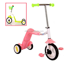 2 In 1 Baby Tricycle Children Balance Bike Three Wheel Bicycle
