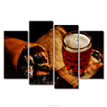 Modern Wall Art Prints Beer Fish Food Pictures Mug Foam Salt Poster Creative Canvas Oil Painting Wall Decor for Dining Room 4pcs