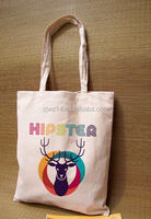 pvc coated cotton shopper tote bags/ xmas gift bags with cotton handle/ xmas gift bags