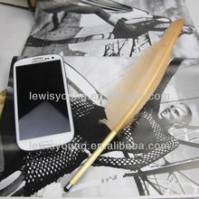 2013 Hottest !! Capacitive screen feather stylus pen for iphone ipad many colors to choose