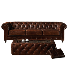 Antique Home Furniture Chesterfield Sofa Set Genuine Leather Sofa Set A102