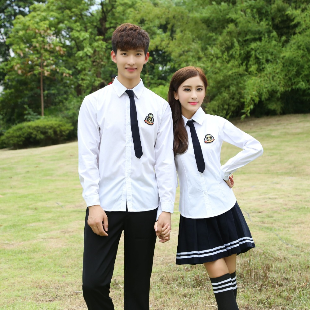 2017 spring Factory supply international middle school uniforms for boy and girl