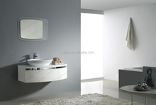 Bathroom vanity cabinet with chrome decoration, mirror with backboard OJS022-1050