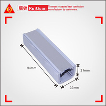 China good price aluminum led housing, aluminum boxing,with dense teeth