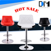 Adjustable Swivel Bar Chair With Chrome Finish Black/White leather dining chair