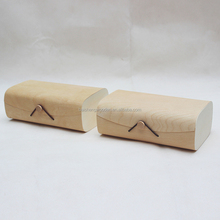 cheap unfinished wooden T-shirt box wooden bow tie gift boxes