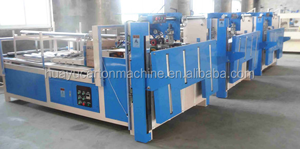 XRT-RY Semi-auto carton folder gluer machine, carton box flap gluing machine
