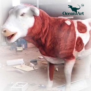 OAH8294 life size animal cow model sculptures for playground