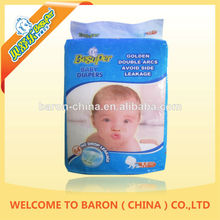 Soft China supplies useful oem disposable baby diaper with cartoon picture