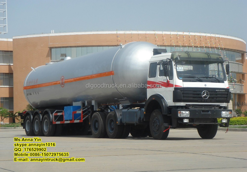 46cbm Liquefied Petroleum Gas Tanker Trailer LPG Transport Tanker Truck Semi Trailer Gas Propane Tank Trailer
