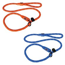 Soft comfortable rope dog leash and collar with leather stopper Large Gold