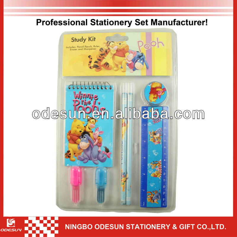 Disney factory audit manufacturer's children school stationery set 149029