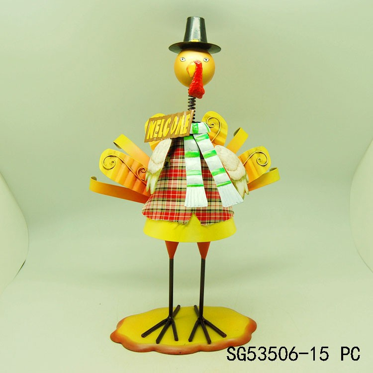 Celebrate harvest festival christmas metal turkey home decoration
