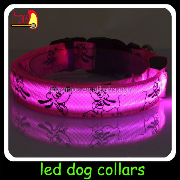 hot sale led pet collar led flash colloar for dog led flash up collar