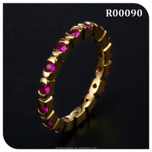 unique ruby zircon party rings jewelry wholesale