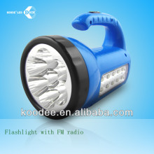 FM radio led flash lights torch light