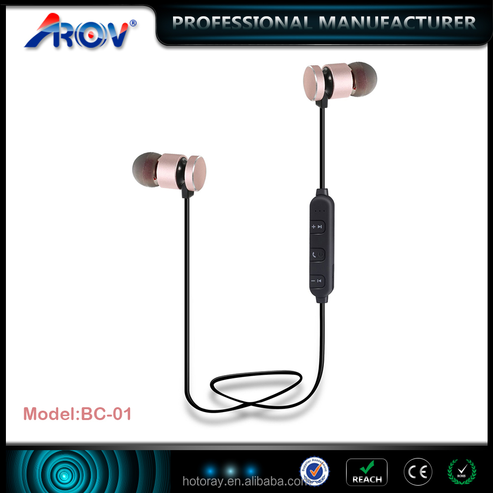 Metal Magnetic Wireless Earphone 4.2 Version CSR Chip auriculares Bluetooth Headphone Stereo Earphone