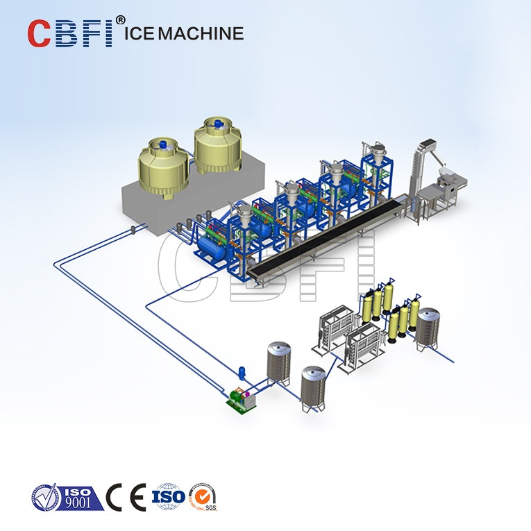 CBFI Tube Ice Machine Price 1 ton 3 ton 5 ton 10 ton
